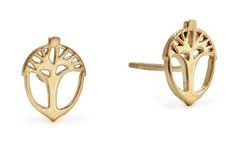 Alex and Ani's Unexpected Miracles post earrings are made in 14-karat gold-plated sterling silver. They retail for $48 a pair.