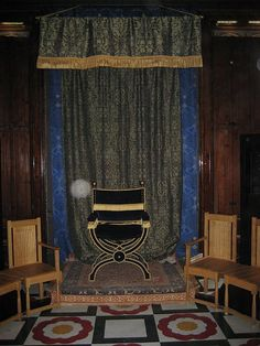 Henry VIII throne in his council room.  See the white orb?  I think Henry was visiting!