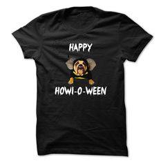 (Top Tshirt Sale) Happy Howl-o-ween with dog at Tshirt United States Hoodies, Tee Shirts