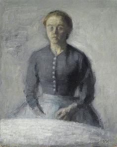 Title: Portrait of Ida, c.1890 Artist: Vilhelm Hammershoi