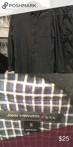 John Varvatos Button Down Men's Small, never wore it but the tags are removed. John Varvatos Shirts Casual Button Down Shirts