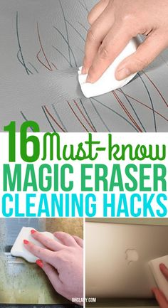 These genius magic eraser hacks will make cleaning so much easier! Find out which awesome magic eraser uses you have been missing out on now! Car Cleaning Hacks, Household Cleaning Tips, House Cleaning Tips, Spring Cleaning, Cleaning Products, Cleaning Solutions, Clean Dry Erase Board, Magic Eraser Uses, Magic Erasers