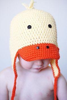 cutest duck hat crochet pattern