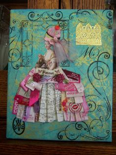 Gorgeous canvas by Linda Kinnaman, featured on the 8th of Mixed Media May!