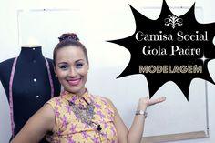 Camisa Social Gola Padre - MODELAGEM/ PATTERN MAKING