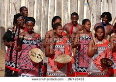 MANZINI, SWAZILAND - MAY 30 : unidentified group of young men and woman wears traditional clothing and dance, during presentation of a Swazi show on May 2014 Manzini, Swaziland