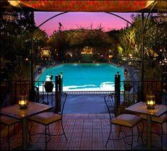 The Hotel Figueroa. A Casablanca respite in DTLA. Originally built in 1925 as a YWCA. This bar is great on warm LA nights.