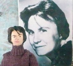 Harper Lee Doll Miniature Author of To Kill a by UneekDollDesigns, $45.00