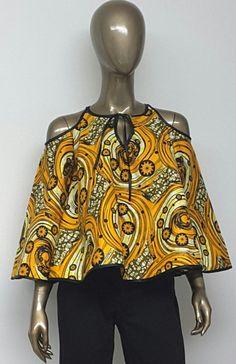 African Print Top. Ankara Top. Bell Sleeves. by NanayahStudio