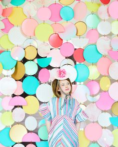 Paper Plate Curtain