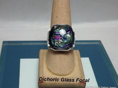 Vintage Dichoric Glass Ring Ring