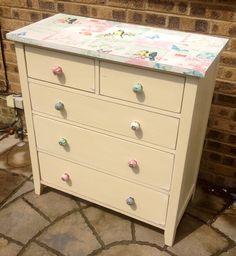 Decoupaged shabby chic drawers