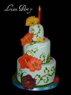 Luau cake. I'd love to make something like this one day