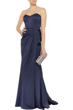 Badgley MischkaTextured satin-crepe gownfront