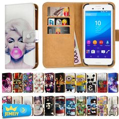 For Sony Xperia Z L36H l36i C6602 C6603 Z1 L39h C6903 C6902 Case Leather Universal Wallet Adjustble Flip Cover bag Middle Size #Affiliate