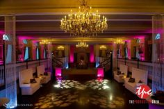 LED Up Lighting and Custom Breakout Gobo Projections