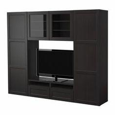 "BESTÅ storage combination, black-brown Width: 94 1/2 "" Depth: 15 3/4 "" Height: 75 5/8 "" Width: 240 cm Depth: 40 cm Height: 192 cm"