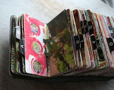 Have an old rolodex that you don't use anymore? Get crafty and create a scrapodex with it!