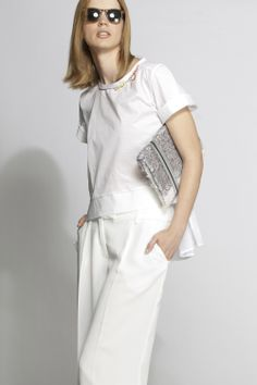 #aviu #ss14 #outfit  #trousers #tshirt #totalwhite