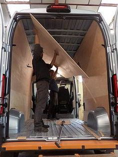 The layout of a van in motorhome – Camping School Bus Camper, Camper Life, Van Conversion Interior, Camper Van Conversion Diy, Motorhome, Build A Camper Van, Vw Lt, Transit Camper, Sprinter Camper
