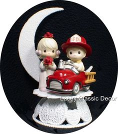 Fireman Engine PRECIOUS MOMENTS Wedding Cake Topper