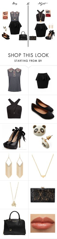 """""""Day to Night"""" by glee2shake ❤ liked on Polyvore featuring Dolce&Gabbana, Forever New, Ollio, Jane Norman, Stella & Bow, With Love From CA, Charlotte Olympia, MICHAEL Michael Kors and LORAC"""