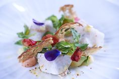 Salad of Devon Crab by Andre Garrett at Cliveden House Hotel, Taplow