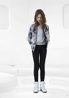 Cool bomber jacket and skinny jeans, kids fashion from Copenhagen by Little Remix for fall 2014