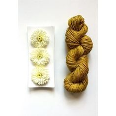 Swift Yarns Cozy DK in colorway Golden Delicious.