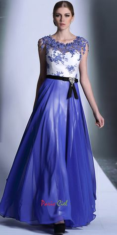 Stunning Embroidered Royal Blue Dress