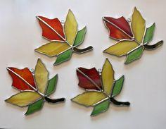 Handmade Stained Glass Autumn Maple Leaf Suncatcher by QTSG on Etsy https://www.etsy.com/listing/246448250/handmade-stained-glass-autumn-maple-leaf