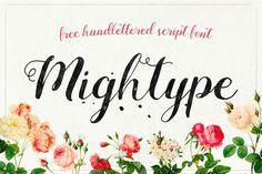 Mightype Free Handlettered Script Font By AF Studio - Free Fonts