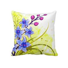 Shop Pretty Spring floral American MoJo Pillow created by ibelieveimages. Floral Cushions, Colourful Cushions, Floral Throws, Floral Throw Pillows, Throw Pillow Cases, Throw Cushions, Toss Pillows, Lumbar Pillow, Diy Pillows