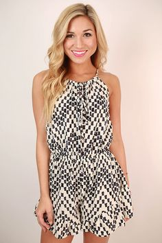 Maldives Mosaic Flare Romper in Ivory – Impressions Online Women's Clothing Boutique