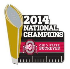Classic Pins - Ohio State Buckeyes 2014 College Football National Champions Pin, $7.95 (http://www.classicpins.com/ohio-state-buckeyes-2014-college-football-national-champions-pin/)
