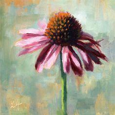 "Daily Paintworks - ""Coneflower"" - Original Fine Art for Sale - © Linda Jacobus Oil Painting Flowers, Watercolor Flowers, Painting & Drawing, Watercolor Paintings, Oil Pastel Art, Mini Canvas Art, Guache, Acrylic Art, Painting Inspiration"