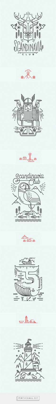 Scandinavian line illustrations for Scandinavia Club in Moscow | #illustration #design
