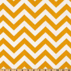 Premier Prints Indoor/Outdoor ZigZag Yellow - Discount Designer Fabric - Fabric.com