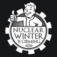 Nuclear Winter Is Coming TShirt Fallout 3 4 Game Tee | TextualTees.com