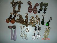 Vintage Clip Earrings Lot of 11 by LillysTreasureChest on Etsy, $14.00