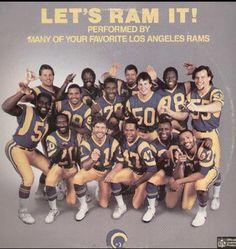 Let's Ram It! An #oralhistory of 1985 LA Los Angeles Rams rap song Rams Cheerleaders