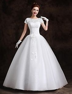 A-line Bateau Floor-length Wedding Dress (Lace). Grab unbeatable discounts up to 70% Off at Light in the box using Coupons.