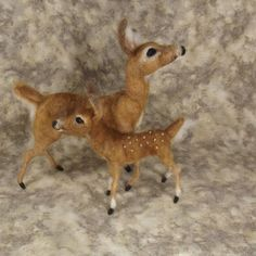 Needle felted Animal Needle felted deer Needle felted Doe