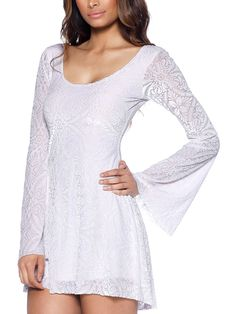 Burned Velvet White Arabella Dress - LIMITED (AU $99AUD / US $80USD) by Black Milk Clothing