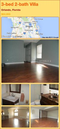 3-bed 2-bath Villa in Orlando, Florida ►$84,900 #PropertyForSale #RealEstate #Florida http://florida-magic.com/properties/81259-villa-for-sale-in-orlando-florida-with-3-bedroom-2-bathroom