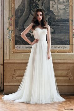 daalarna 2014 strapless wedding dress  #wedding #dress #bride