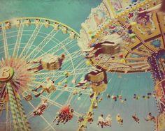 Carnival photography swings Fun in the Sun 8x10 by elgarboart