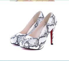 #Stylish Pattern#Stylish Pattern Printed Waterproof High Heels Silvery http://www.clothing-dropship.com/stylish-pattern-printed-waterproof-high-heels-silvery-g1544288.html