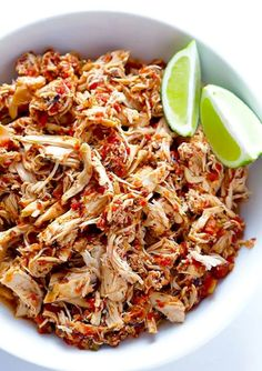 This recipe is literally as simple as it sounds by throwing some chicken (preferably boneless) and your favorite salsa together. You can shred the chicken once it's done to make fajitas, tacos, sandwiches, or even eat the chicken as is.