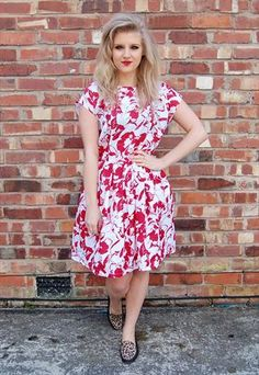 Vintage 50's Red and White Dress